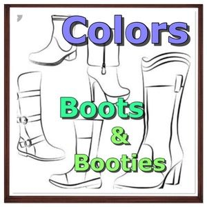 Boots & booties in colors - no neutral